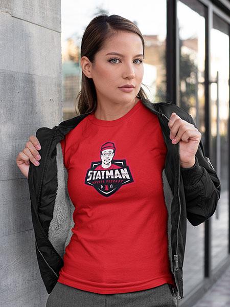 Women-T-shirt-(Red)