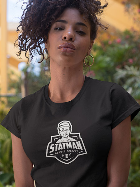 Women's-T-shirt-(White-on-Black)